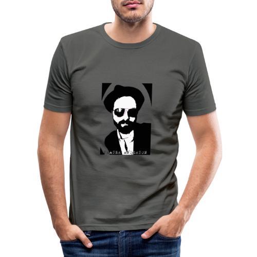 B W Pop art design trans - Men's Slim Fit T-Shirt