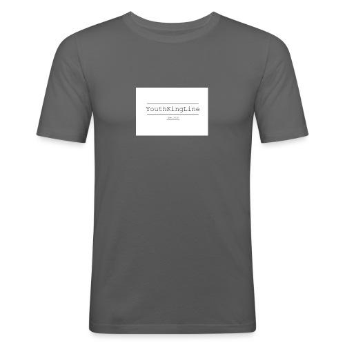 YouthKingline White T-shirt - Men's Slim Fit T-Shirt