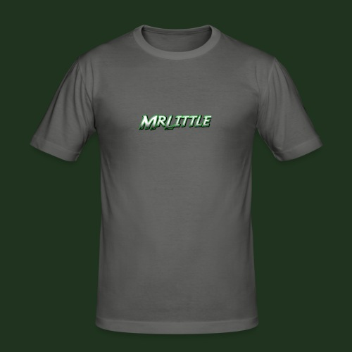 A simple text which fits on dark colours. - Men's Slim Fit T-Shirt