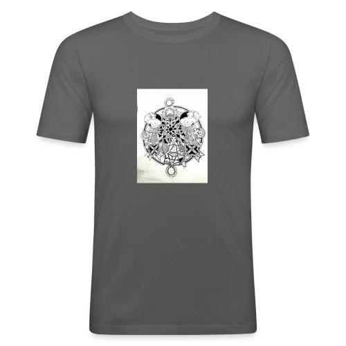 guerriere celtique entrelacs bretagne femme - T-shirt près du corps Homme