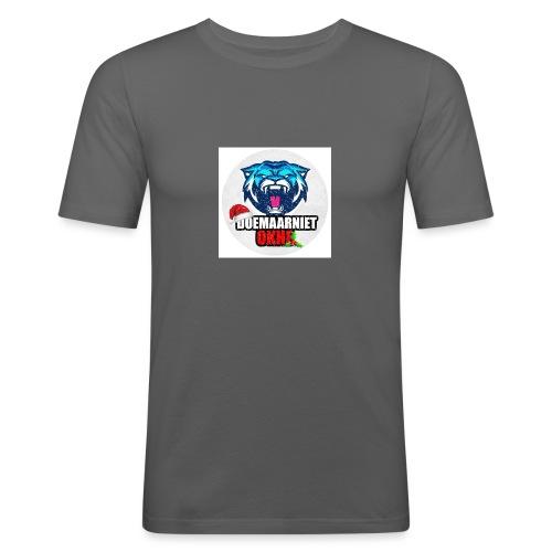 DoeMaarNiet.Okhe - Mannen slim fit T-shirt