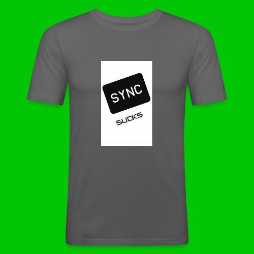t-shirt-DIETRO_SYNK_SUCKS-jpg - Maglietta aderente da uomo