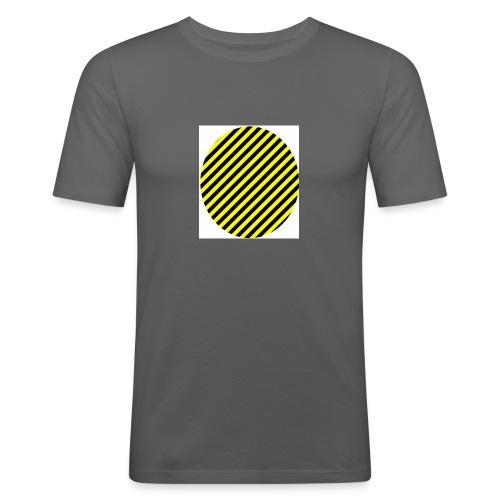 varninggulsvart - Slim Fit T-shirt herr