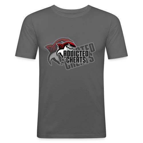 sharklogoaddictedshirt - T-shirt près du corps Homme
