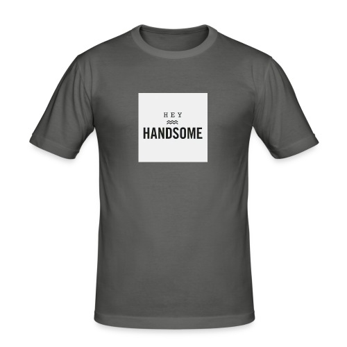 Hey handsome - Mannen slim fit T-shirt