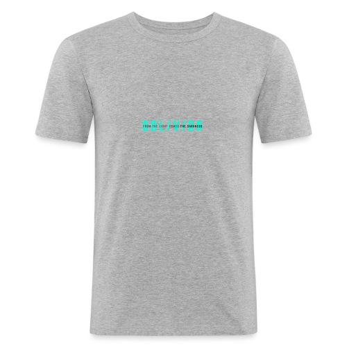 OBL/V/ON white - Maglietta aderente da uomo