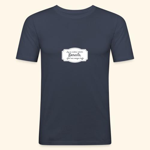 Verdens sødeste kæreste - Herre Slim Fit T-Shirt