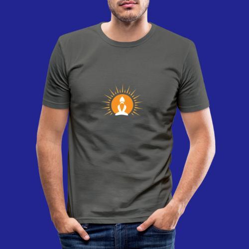 Guramylyfe logo white no text - Men's Slim Fit T-Shirt