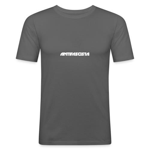 Antifascista vit - Slim Fit T-shirt herr