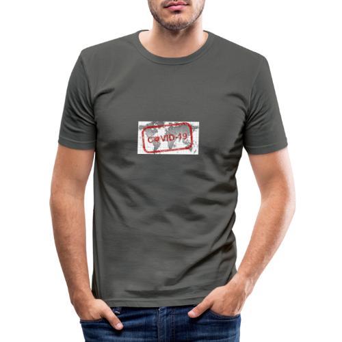 covid 19 - Männer Slim Fit T-Shirt