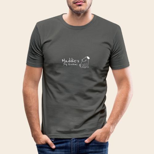 Académie des chiens de Maddie (blanc) - T-shirt près du corps Homme