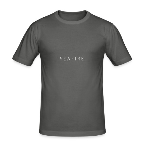 Seafire logo WHITE - Mannen slim fit T-shirt