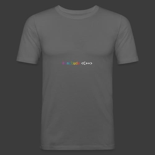 rainbow for dark background - Men's Slim Fit T-Shirt