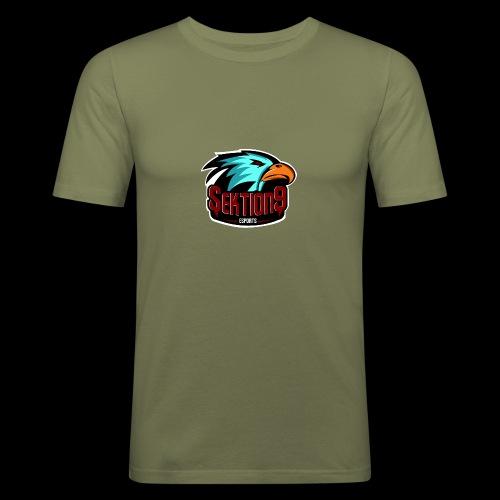 Sektion9 Logo Schwarz - Männer Slim Fit T-Shirt
