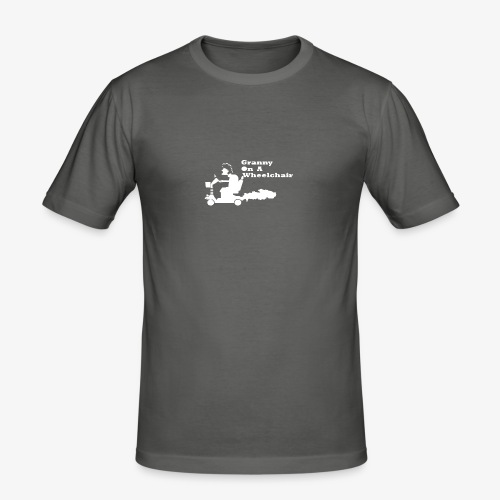 g on wheelchair - Men's Slim Fit T-Shirt