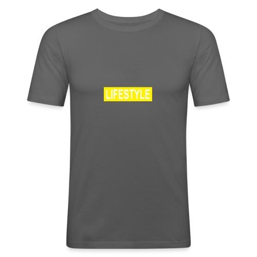 YELLOW LOGO - T-shirt près du corps Homme