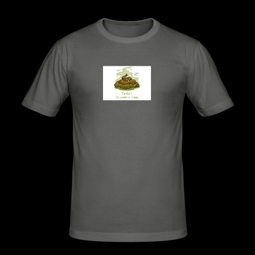 Its a poopie-day today. - Mannen slim fit T-shirt