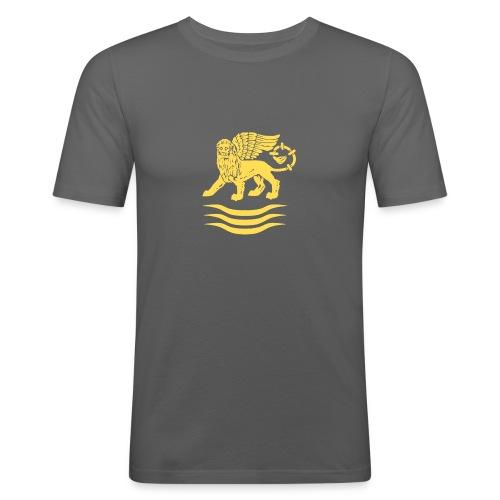 Trident Lion - Mannen slim fit T-shirt