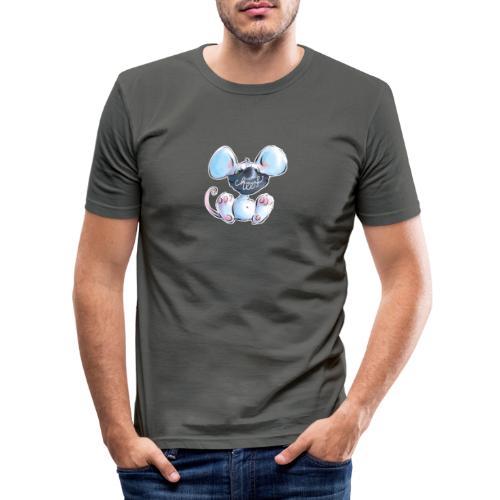 Maskenmaus - Männer Slim Fit T-Shirt