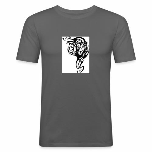 Leone tribale - Maglietta aderente da uomo
