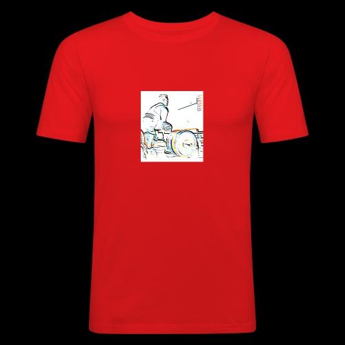 Deadlift - Miesten tyköistuva t-paita