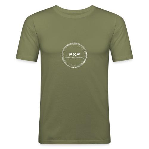 white logo transparent 2x - Men's Slim Fit T-Shirt