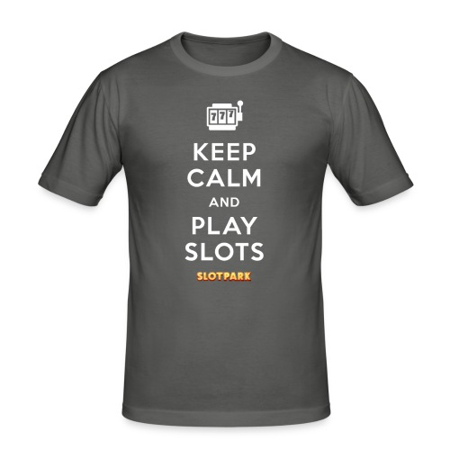 Keep Calm and Play Slots - Men's Slim Fit T-Shirt