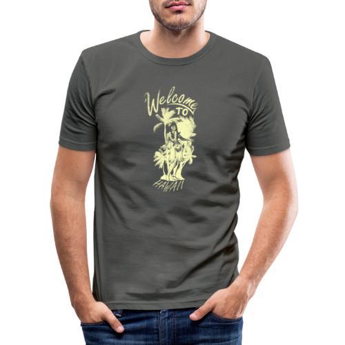 Welcome to Hawaii - Männer Slim Fit T-Shirt