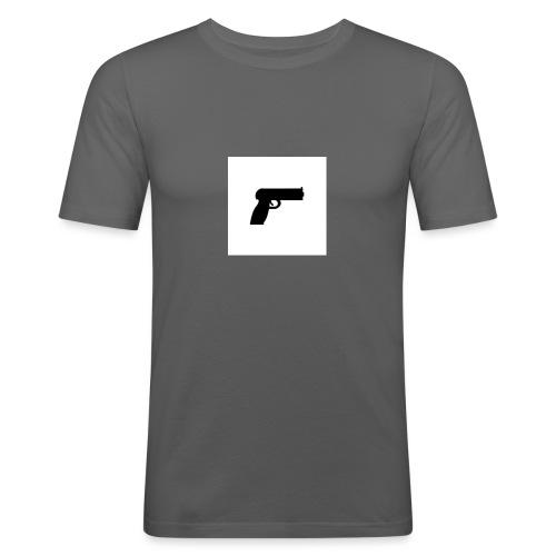 geweer_318-1424-jpg - Mannen slim fit T-shirt