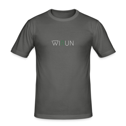 WIRUN gReen - Mannen slim fit T-shirt