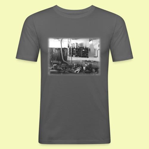 Werkstatt Rand auslaufend - Männer Slim Fit T-Shirt