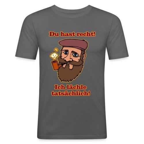 Ich lächle tatsächlich - Männer Slim Fit T-Shirt