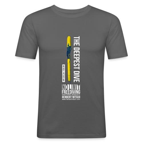 800 ft Sled WHITE png - Men's Slim Fit T-Shirt