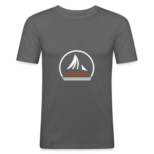 emkasports logo weiss rot png - Männer Slim Fit T-Shirt