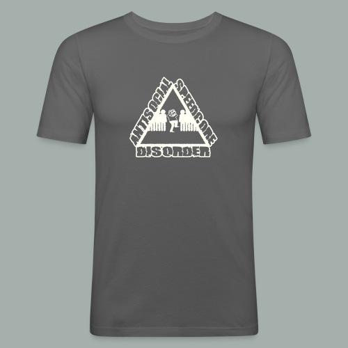 ANTISOCIAL wit png - T-shirt près du corps Homme