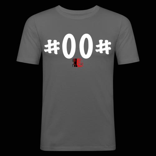 n° de série #00# Blanc - T-shirt près du corps Homme