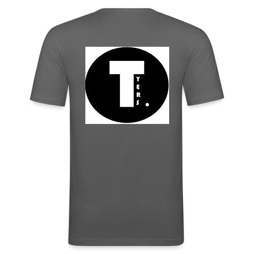 T by Tyers Logo au dos - T-shirt près du corps Homme