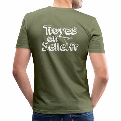 logo Troyes en Selle - T-shirt près du corps Homme