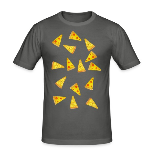 Pizza is Bae - Männer Slim Fit T-Shirt