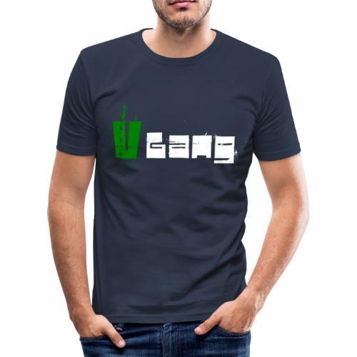 V Gang Vegan Vegetarier Lifestyle Shirt T-Shirt - Männer Slim Fit T-Shirt