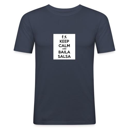keep-calm-and-baila-salsa-41 - Maglietta aderente da uomo
