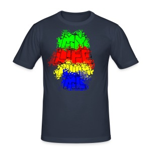 Den Officielle My Life With Minecraft Logo - Herre Slim Fit T-Shirt