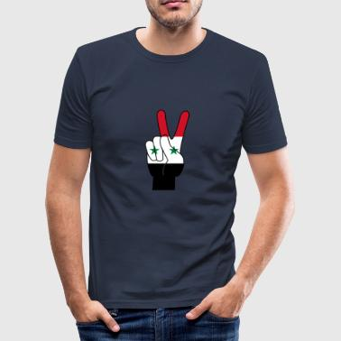 FREE SYRIA - Tee shirt près du corps Homme