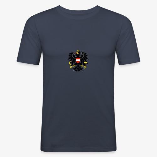 Österreich Wappen - Männer Slim Fit T-Shirt