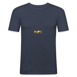 ROC Jaune sur bleu - Tee shirt près du corps Homme