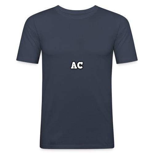 AC blur logo - Men's Slim Fit T-Shirt