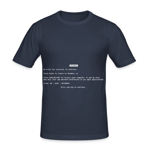 Blue screen of death - Men's Slim Fit T-Shirt