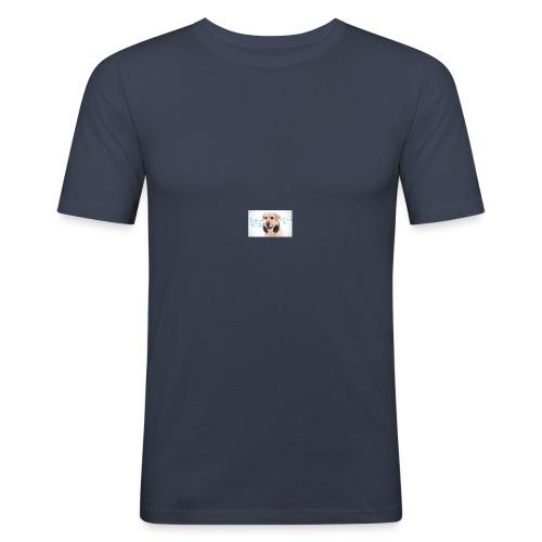 Hond Met Koptelefoon Op Borst - slim fit T-shirt