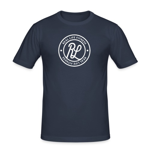 RLF Badge White - Men's Slim Fit T-Shirt