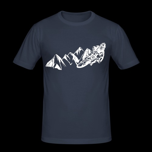 Downhill/ Freeride/ Dirt/ BMX - Männer Slim Fit T-Shirt